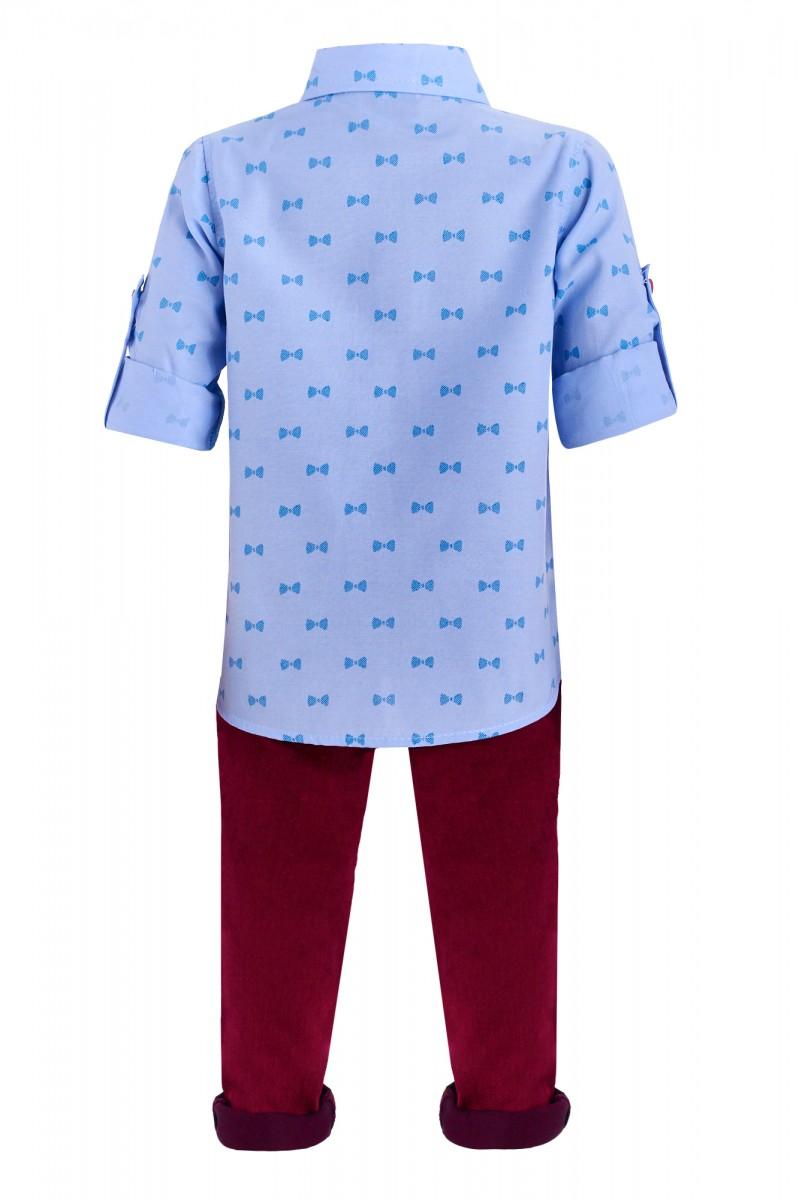 Стильный костюм для мальчика с подтяжками