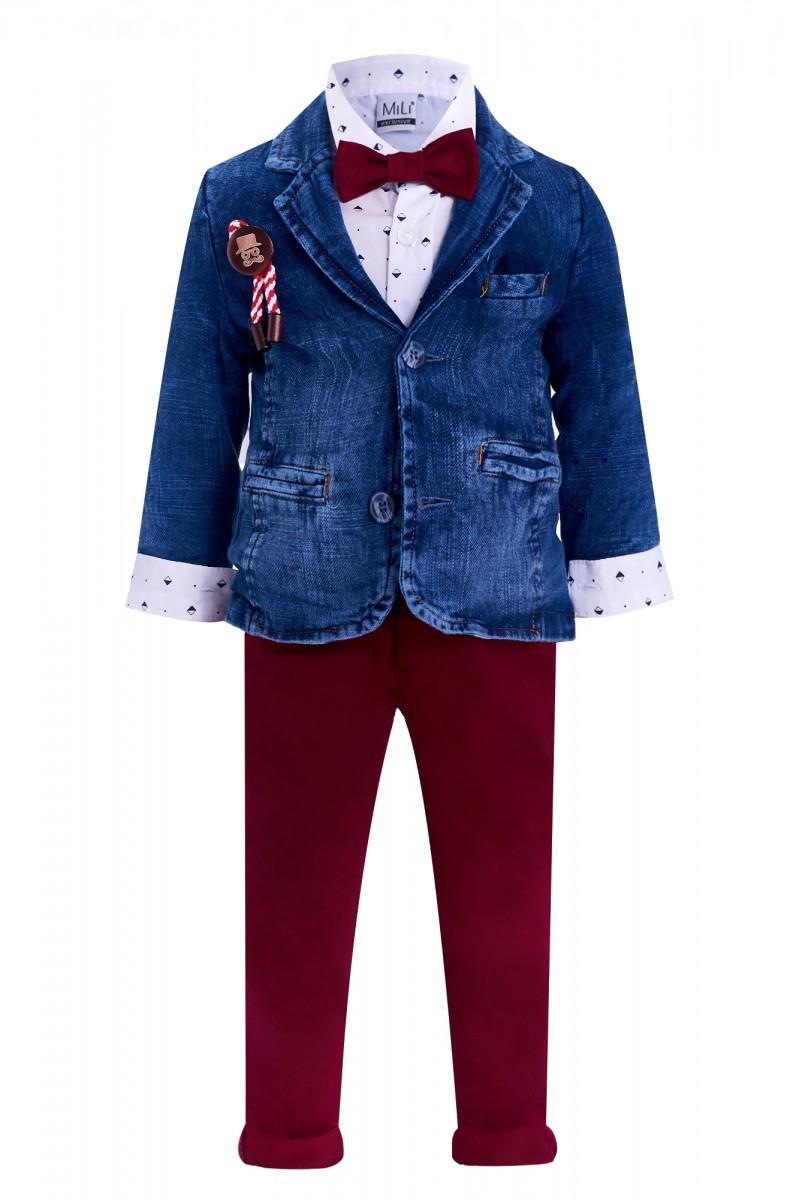 Пиджачный костюм для мальчика на Новый Год