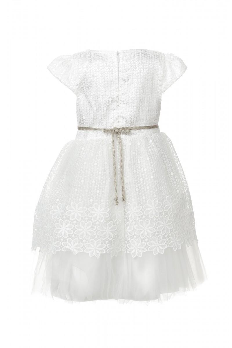 Кружевное платье белого цвета