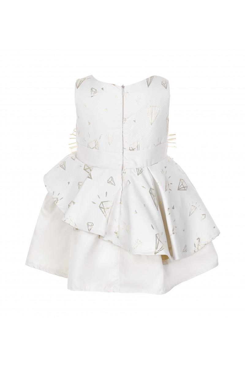 Жаккардовое платье с объёмным рисунком